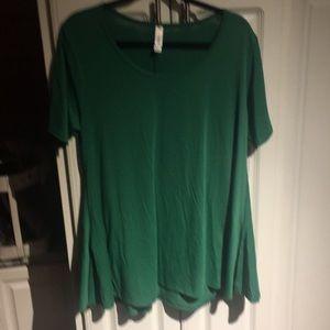 Lularoe large green perfect t shirt NWT